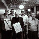Jens Ramrath, Wilhelm Strohmeier, Christian Rogon, Harald Wegener, Jens Stöber (Foto Mitgliederversammlung 2017)